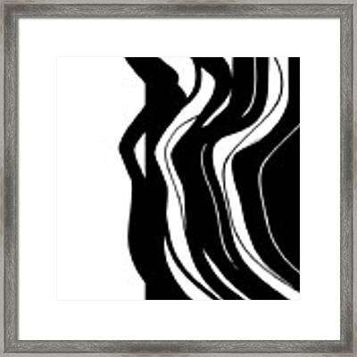 Organic No 5 Black And White Framed Print by Menega Sabidussi