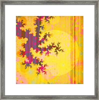 Oriental Moon Behind My Courtain Framed Print by Silvia Ganora