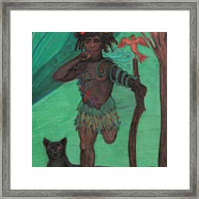 Osain Framed Print by Gabrielle Wilson-Sealy