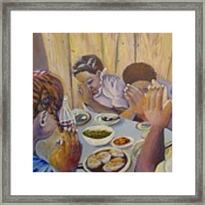 Our Daily Bread Framed Print by Saundra Johnson