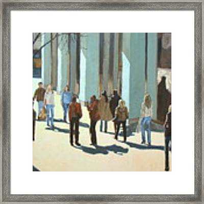 Out For A Walk With Shadows Number Two Framed Print by Tate Hamilton