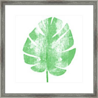 Palm Leaf- Art By Linda Woods Framed Print by Linda Woods