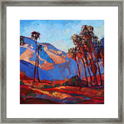 Palm Springs Color Framed Print by Erin Hanson