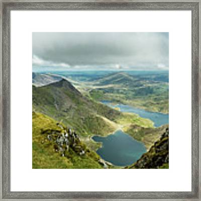 Pano Snowdonia Framed Print by Nick Bywater