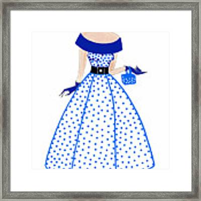 Parisien Chic - Camille Framed Print by Di Kaye