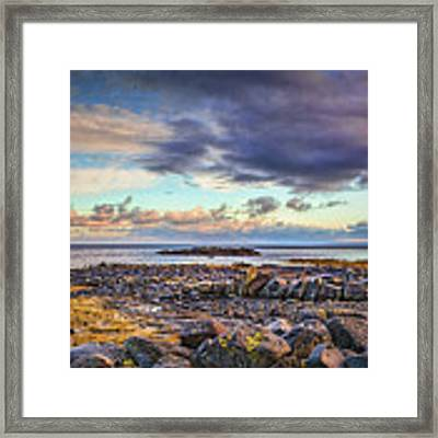 Pebbles And Sky  #h4 Framed Print by Leif Sohlman