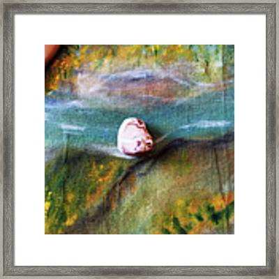 Pebbles At  The Stream Framed Print by Augusta Stylianou