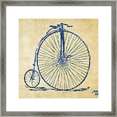 Penny-farthing 1867 High Wheeler Bicycle Vintage Framed Print