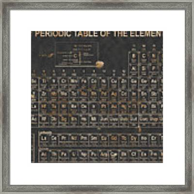 Periodic Table Grunge Style Framed Print