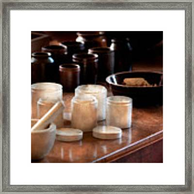 Pharmacist - Pestle And Cups Framed Print