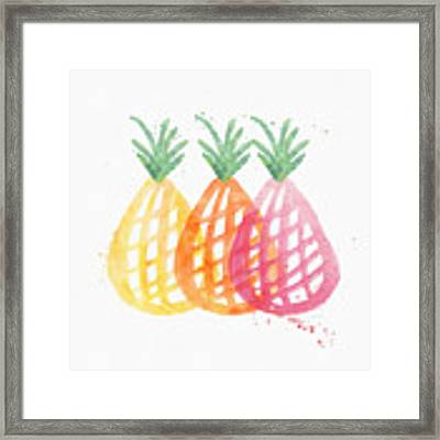 Pineapple Trio Framed Print