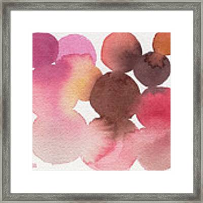 Pink Brown Coral Abstract Watercolor Framed Print by Beverly Brown