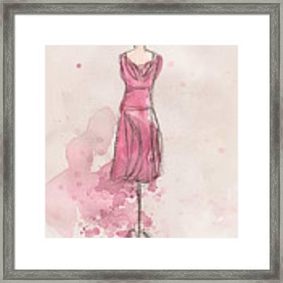 Pink Tulip Dress Framed Print