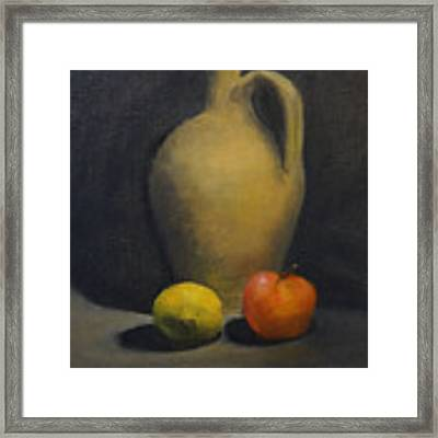 Pitcher This Framed Print by Genevieve Brown