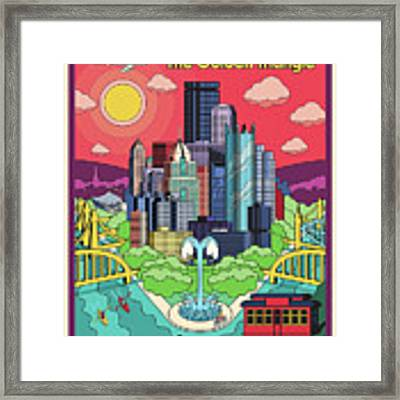 Pittsburgh Poster - Pop Art - Travel Framed Print by Jim Zahniser