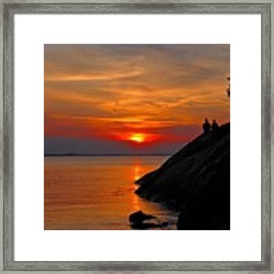 Plum Cove Sunset Framed Print by AnnaJanessa PhotoArt