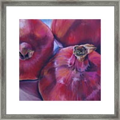 Pomegranate Power Framed Print by Outre Art  Natalie Eisen