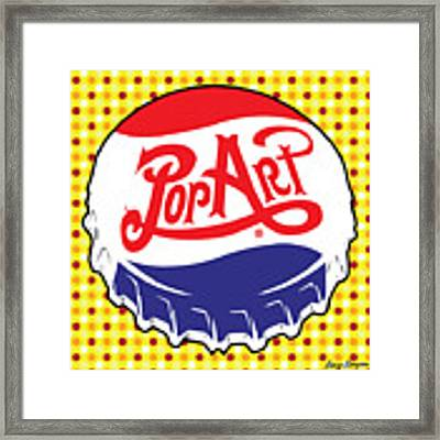 Pop Art Bottle Cap Framed Print by Gary Grayson