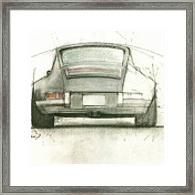 Porsche 911 Rs Framed Print by Juan Bosco