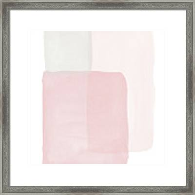 Pretty Pink Boxes 1- Art By Linda Woods Framed Print by Linda Woods