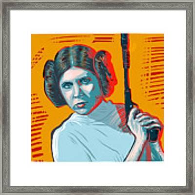 Princess Leia Framed Print by Antonio Romero