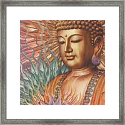 Proliferation Of Peace - Buddha Art By Christopher Beikmann Framed Print by Christopher Beikmann