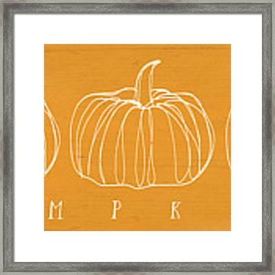 Pumpkins- Art By Linda Woods Framed Print