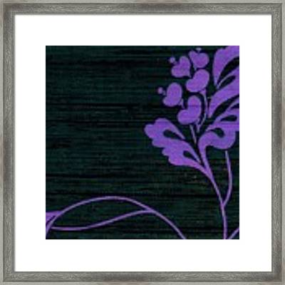 Purple Glamour On Black Weave Framed Print by Writermore Arts