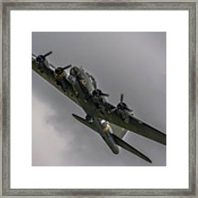 Raf Scampton 2017 - B-17 Flying Fortress Sally B Turning Framed Print by Scott Lyons