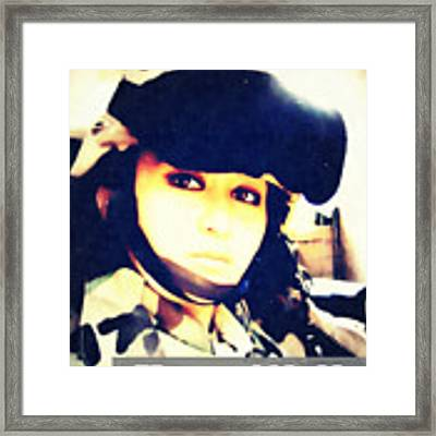 Ramadi Selfie Framed Print by Michelle Dallocchio