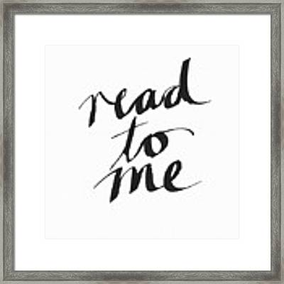 Read To Me- Art By Linda Woods Framed Print