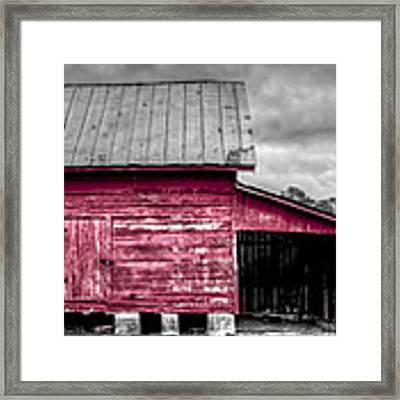 Red Barns At Windsor Castle Framed Print by Williams-Cairns Photography LLC