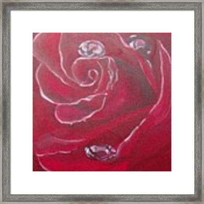 Red Framed Print by Saundra Johnson