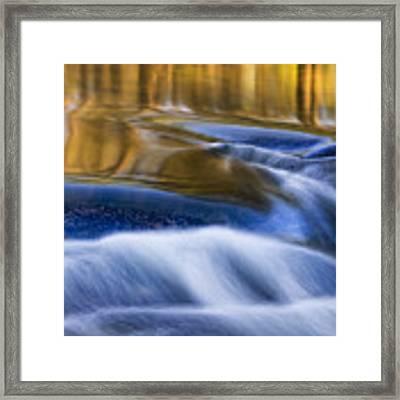 Reflections  Of Linville River Framed Print by Ken Barrett