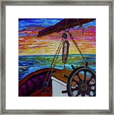 Release The Sails Framed Print by Jacqueline Athmann