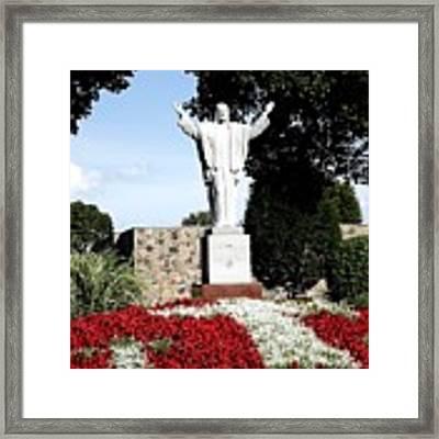 Resurrection Of Jesus Statue Framed Print by Rose Santuci-Sofranko