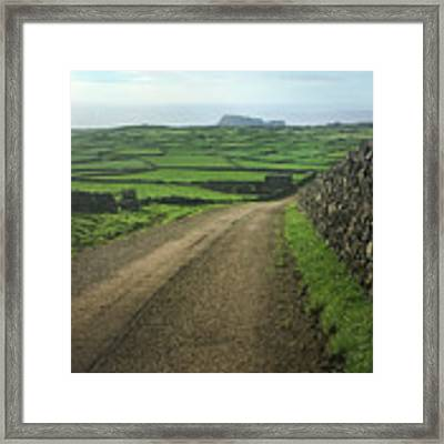 Road Through The Pastrues Of Terceira  Framed Print by Kelly Hazel