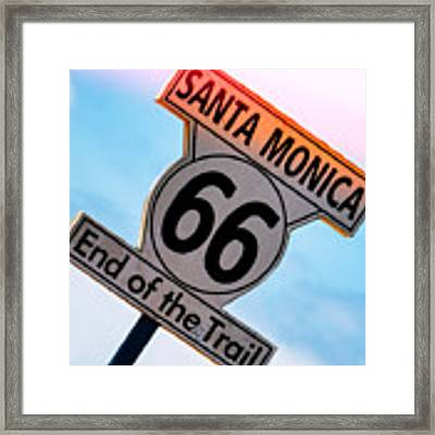 Route 66 End Of The Trail Framed Print by Michael Hope