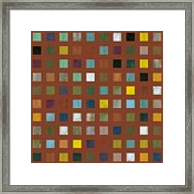 Rustic Wooden Abstract Vll Framed Print