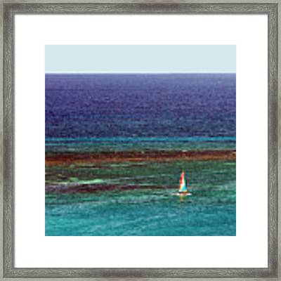 Sailing Day Framed Print by Karen Zuk Rosenblatt