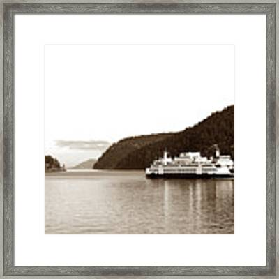 Sailing The San Juan Islands Framed Print by Lorraine Devon Wilke