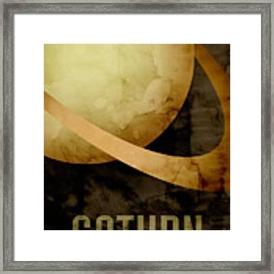Saturn Framed Print by Michael Tompsett