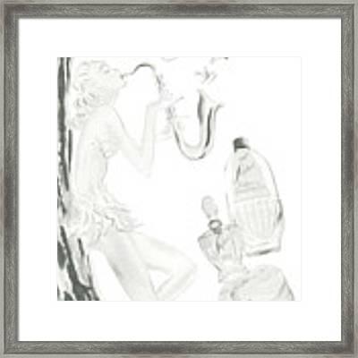 Sax Girl Framed Print by ReInVintaged