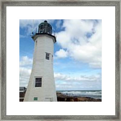 Scituate Light Framed Print by Barbara Von Pagel