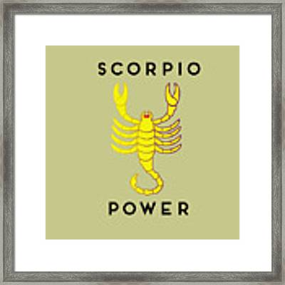 Scorpio Power Framed Print by Judy Hall-Folde