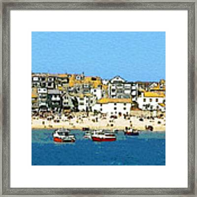 Sea And Sky Framed Print by Julian Perry