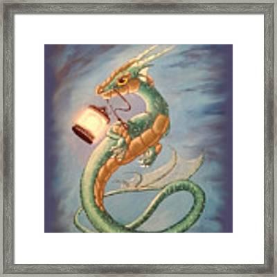 Sea Dragon And Lantern Framed Print by Mary Hoy