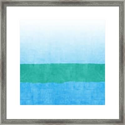 Sea Of Blues Framed Print