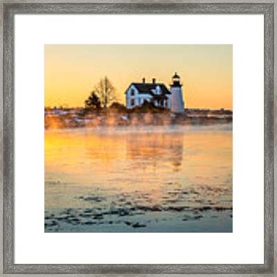 Sea Smoke At Prospect Harbor Framed Print by Susan Cole Kelly