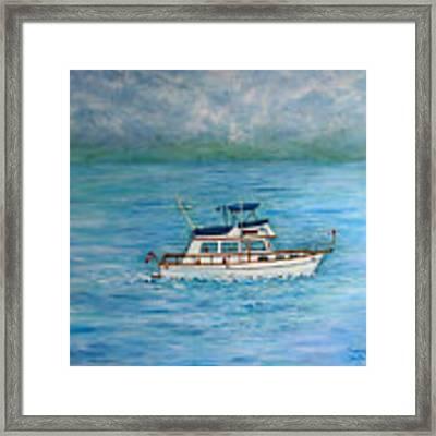 Seascape Framed Print by Lynn Buettner